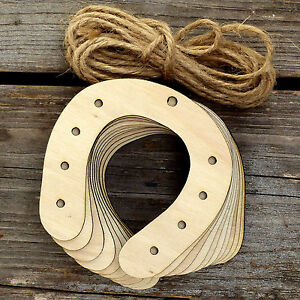10x wooden horse shoe craft shapes 3mm plywood wedding for Wooden horseshoes for crafts