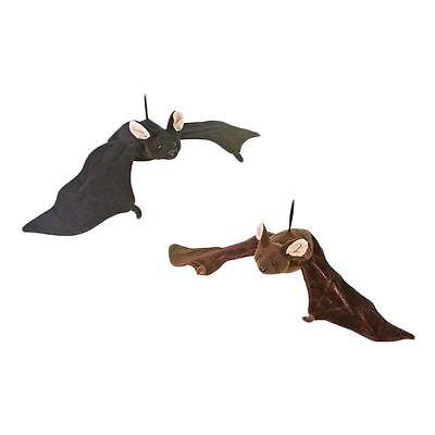 Plush Hanging Black Brown Bat Animal Halloween Spooky Home Yard Decorations