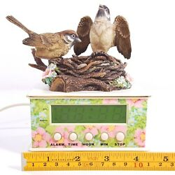 Sparrows Club 2001 Alarm Clock Music Box Birds Chirp & Play Dawn is Awaking