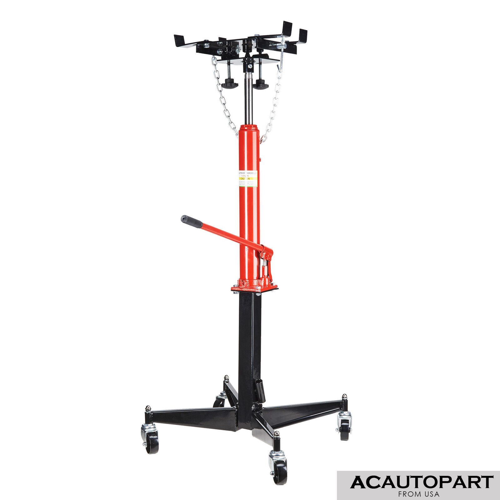 0.5T 1100lb Manual Transmission Jack Hydraulic Lift Pedestal 51'' to 71'' Height
