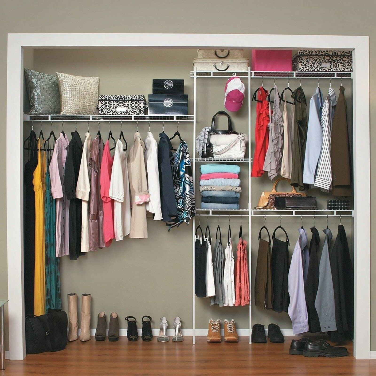 ClosetMaid 1628 Closet Organizer Kit, 5-Foot to 8-Foot, Whit