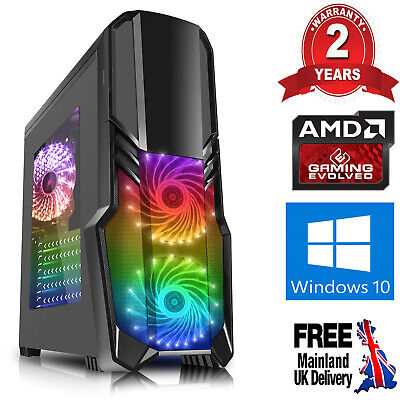 Computer Games - Mega Fast AMD 9600 Quad Core 8GB DDR4 1TB Gaming PC Computer USB3 Windows 10 DB