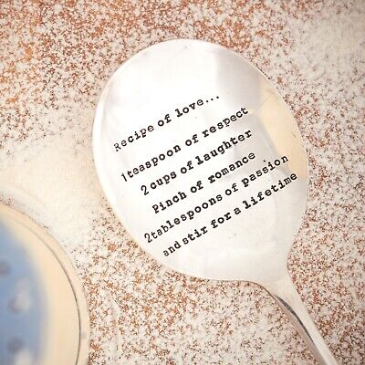 Recipe of love vintage spoon. Gift/Homeware/Foodie/Love/Wedding/Engagement