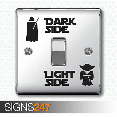 Light And Dark Side Star Wars Design Light Switch Kids Child Room Sticker Decal