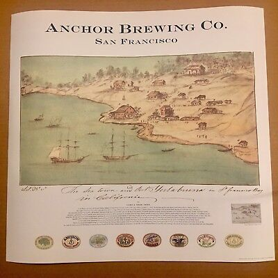 ANCHOR STEAM BREWING SAN FRANCISCO BAY CALIFORNIA ART POSTER PRINT BREWERY BEER
