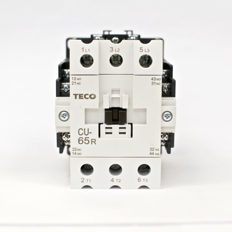 TECO CU-65R Magnetic Contactor 100 Amp, 3 Phase, 110V Coil 3A2a2b