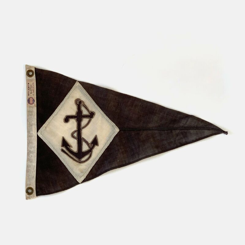 Vintage Burgee Pennant with Anchor