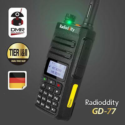 Nue Radioddity GD-77 DMR VHF UHF Digital Hand-funkgerät Tier II Walkie-Talkie DE