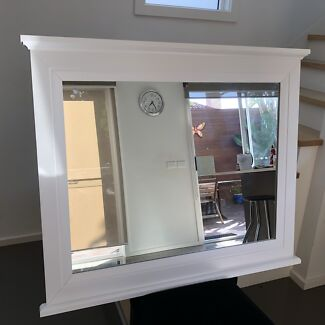 White Quebec Dressing Table Mirror ONLY