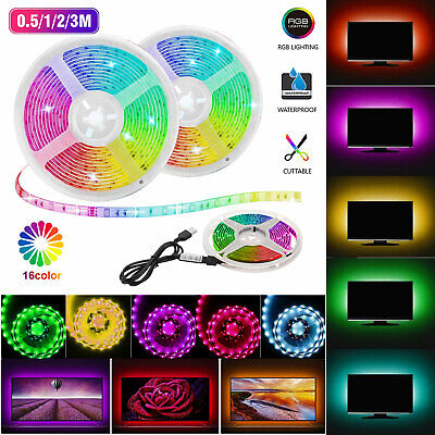 USB 5V LED Strip Light TV backlight 5050 RGB Tape Light Color Changing Light Kit