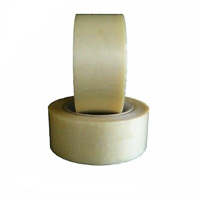 36 Rolls Clear PVC Packing Tape Premium Adhesive Tapes 2.1 Mil 2