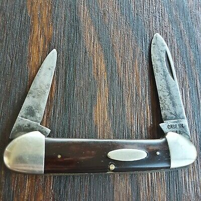 CASE XX KNIFE MADE IN USA 1970S 62131 CANOE 2 BLADE OLD VINTAGE FOLDING POCKET