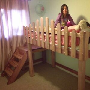 HANDMADE SOLID WOOD LOFT BED, AND OTHER CUSTOM FURNITURE
