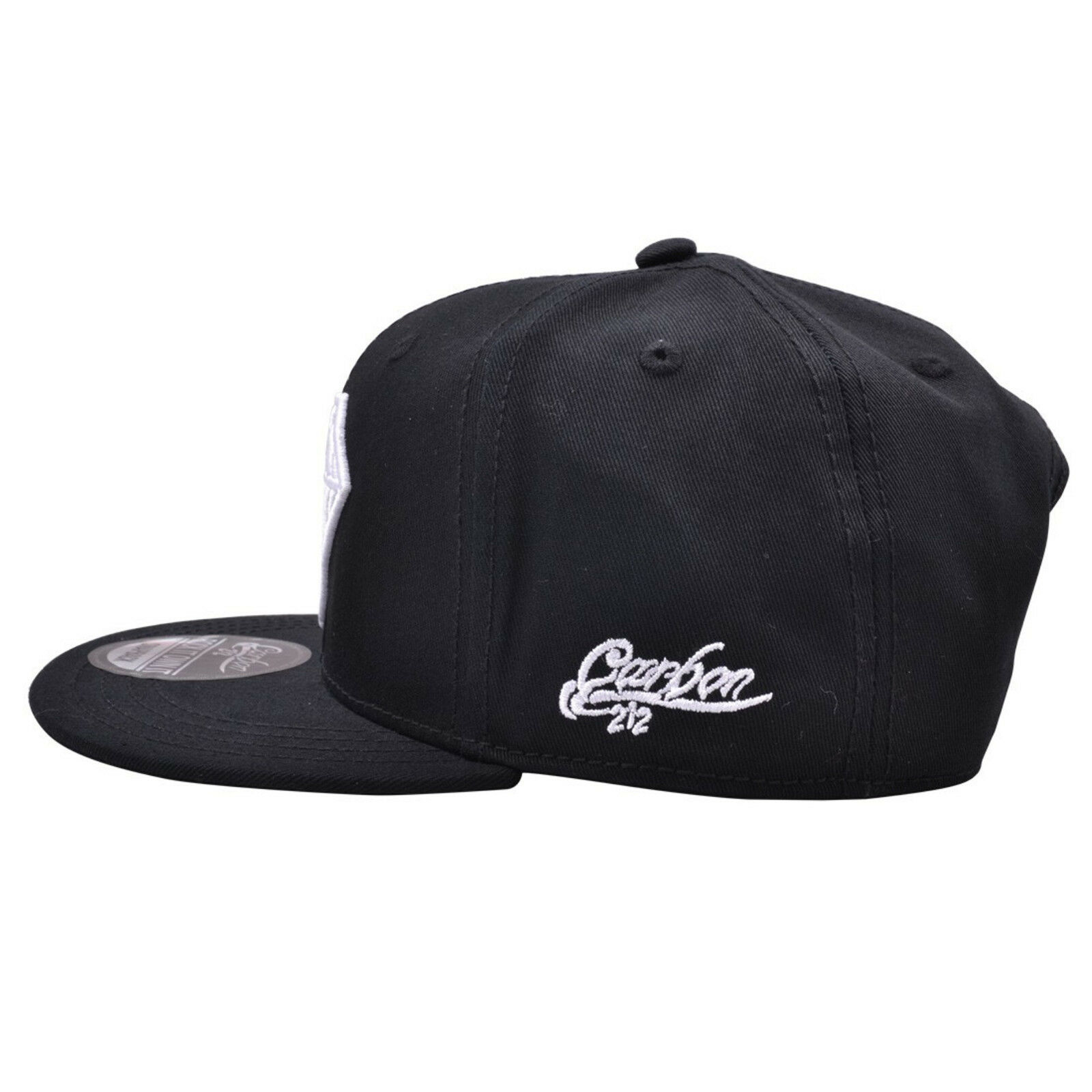 Diamond Design Grey Hat With Black Flat Peak Snapback Baseball Cap