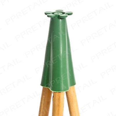 Thick Rubber Pyramid Garden Cane Topper Bamboo Stick Eye Protector Cone End Cap