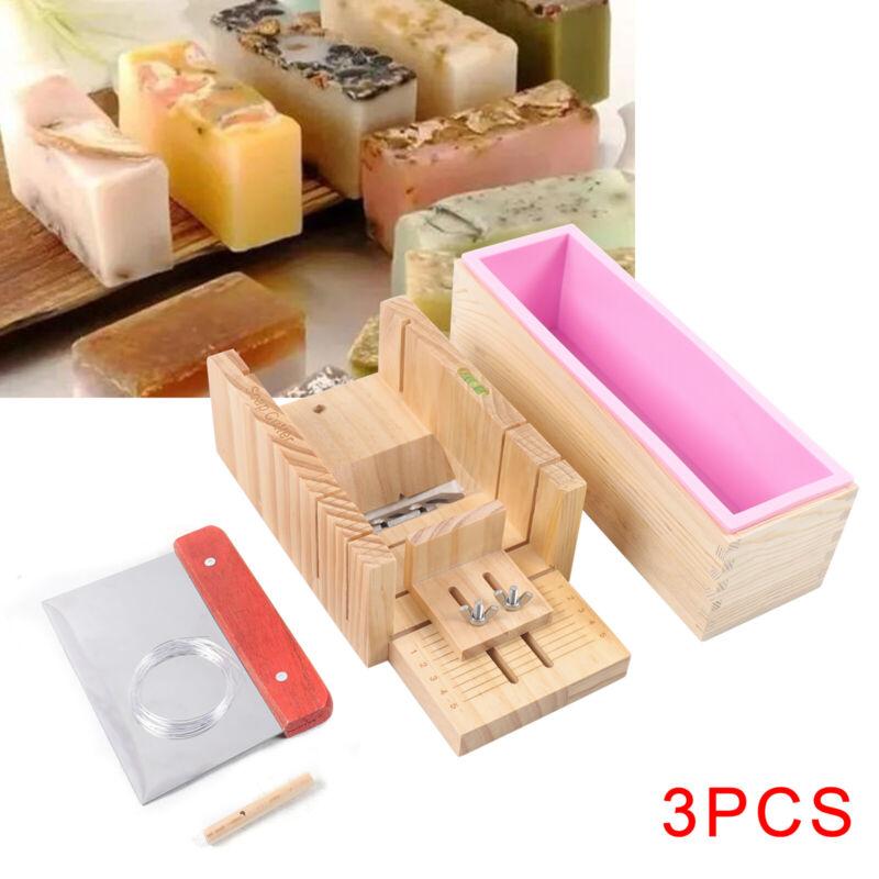 3pcs Handmade Soap Cutter Set Adjustable Wooden Planer Box Cutting Tool Set NEW