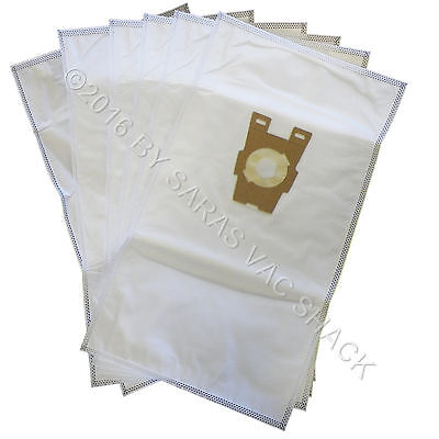 6 Universal HEPA Cloth Bags for Kirby Vacuum F Style Avalir Sentria by DVC Cloth Hepa Vacuum Bags