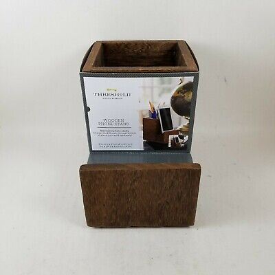 Threshold Quality Design Pencil Cup With Phone Stand Brown.. New