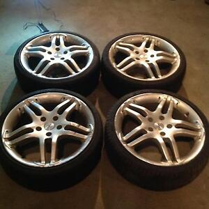 "18"" Momo Sports Rims with tyres (suite Honda) West Footscray Maribyrnong Area Preview"
