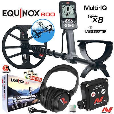Minelab EQUINOX 800 Multi-IQ Underwater Waterproof Metal Detector & 11
