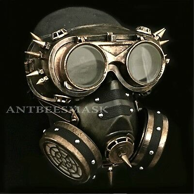 Halloween Steampunk  Flip Up Goggles Faux Deco Gas Burning Man Cosplay Masks](Halloween Fake Burns)