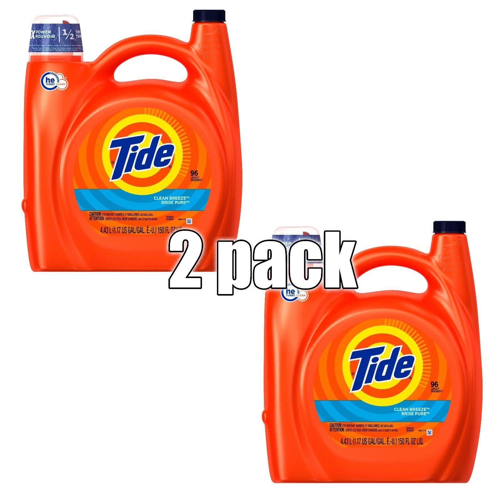 Tide 23066 150 Oz Clean Breeze Scent High Efficiency Liquid