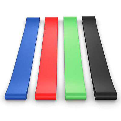 BEST Set of 4 Home Fitness Exercise Bands For Whole Body Strength Training