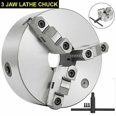 Self-centering Lathe Chuck 3 Jaw 8 Inch For Milling K11-200a Hardened Steel Us