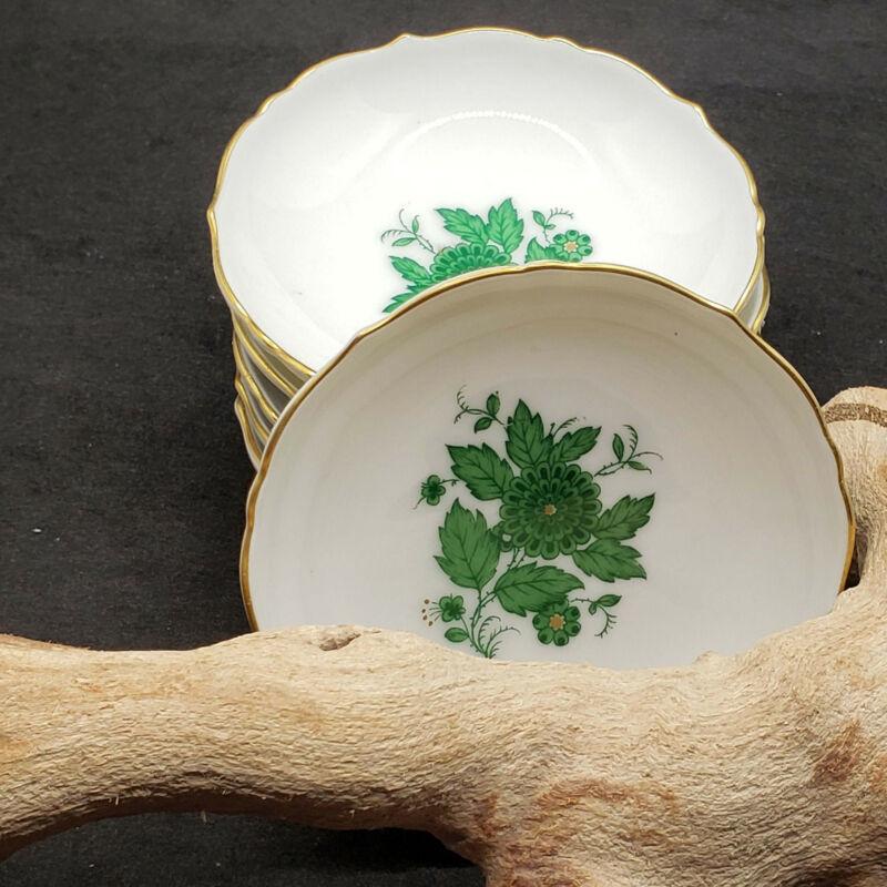 "6 Vintage Kaiser Schonbrunn Porcelain Butter Pats Dishes Germany 3"""
