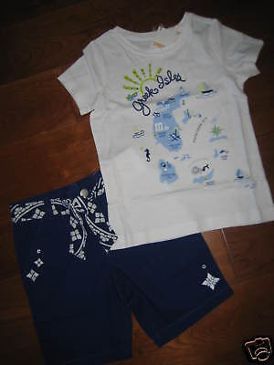 NWT Gymboree Greek Isles Top Shorts Outfit 4 5 6 7