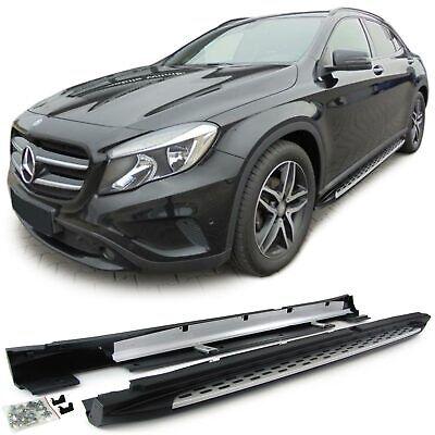 Alu Trittbretter Flankenschutz OE Style mit ABE für Mercedes GLA X156 ab 13