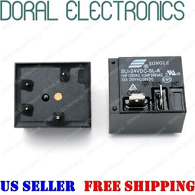 Sli-24vdc-sl-a T91 Electrical Pcb Power Relay 24v 24 V Volt 30a 250 Vac Contact