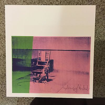 Andy Warhol, signed print, Big Electric Chair, 1986 - COA