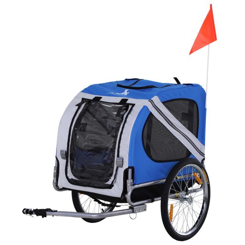 Dog Bike Trailer Cargo Cart Carrier Bicycle Pet Wagon Jogger Off-Road 3 Entrance