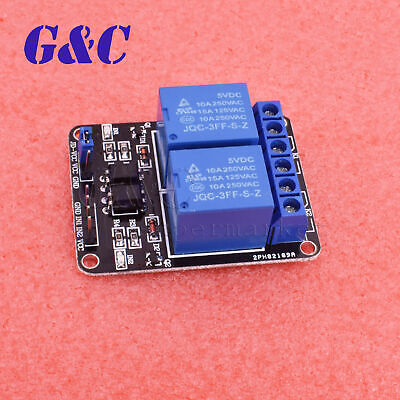 2 Channel 5v Relay Module With Optocoupler For Arduino Pic Arm Dsp Avr