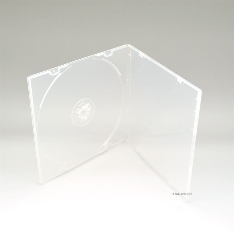 50 Clear 5.2mm Single CD DVD R CDR DVDR Disc PP Poly Plastic Case Outer Sleeve