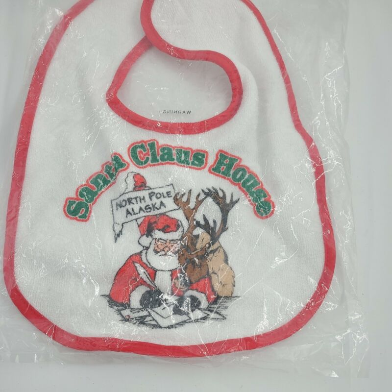 Baby Gear Infant Christmas Unicorn Bib Hook and Loop Closure One Size