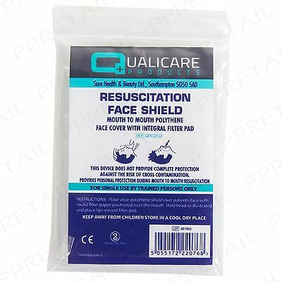 5 x CPR RESUSCITATION FACE MASK SHIELD Mouth-Mouth Emergency First Aid Refill