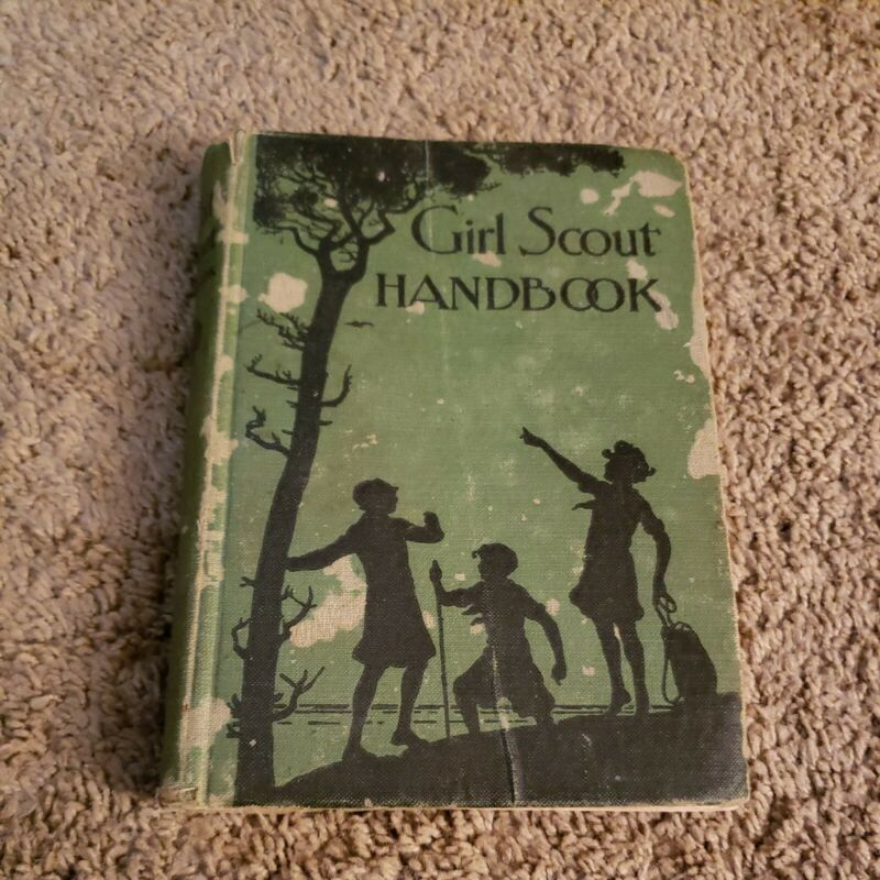 1929 Girl Scout Handbook Revised 2nd Edition Antique Vintage