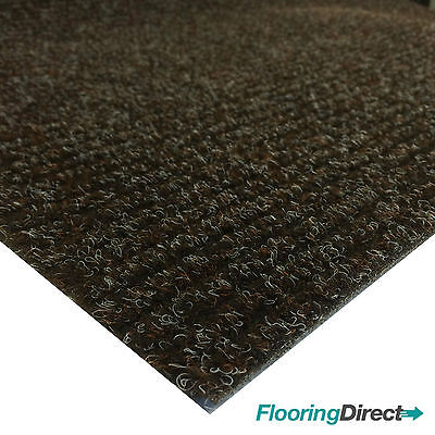 Brown Entrance Matting Ribbed Door Mat Reception