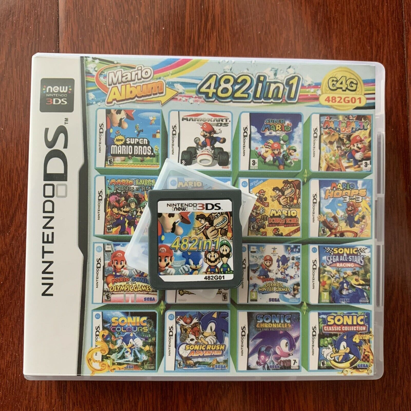 482 In 1 Video Game Cartridge Console Card For Nintendo NDS