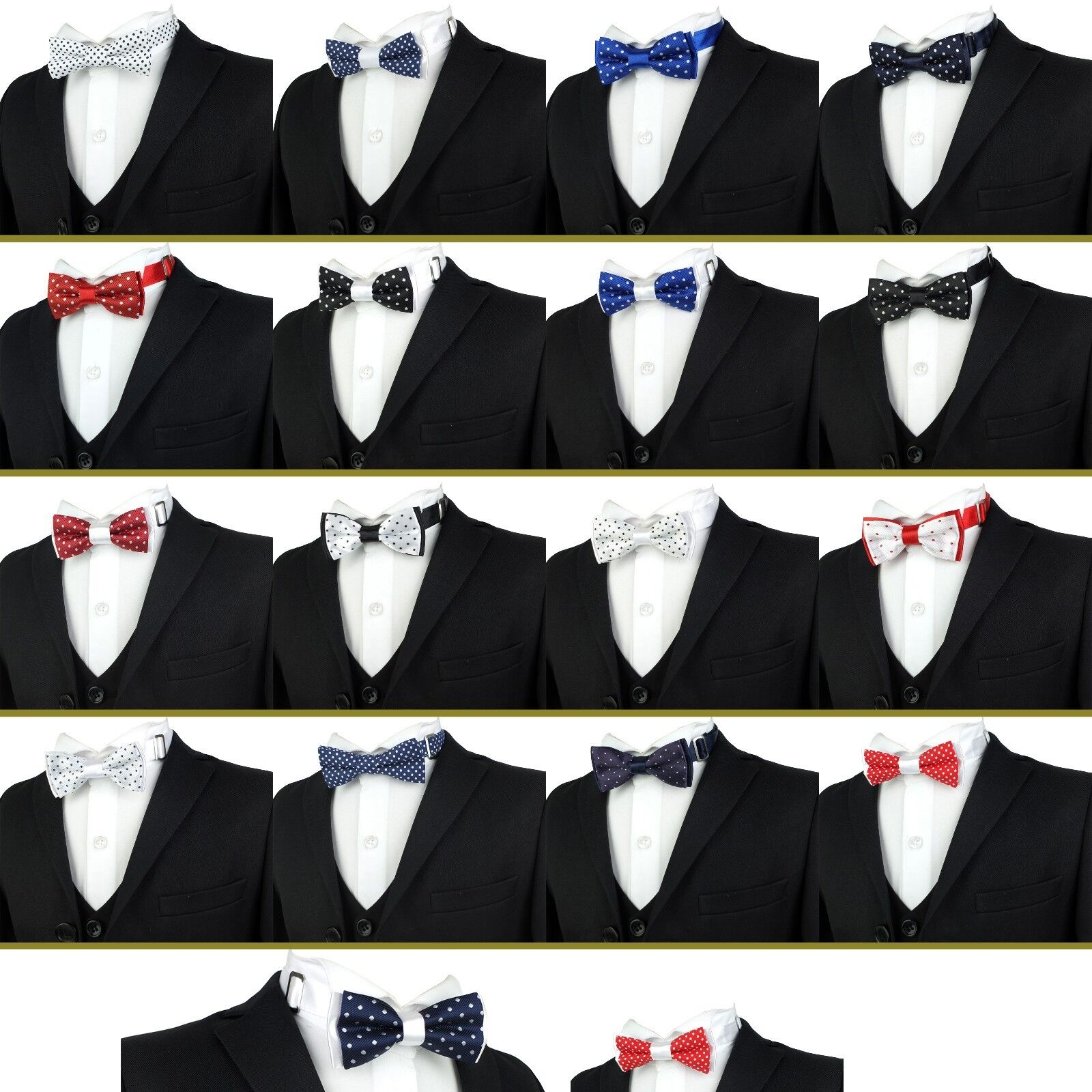 Black Velvet Bow Tie for Men and Women Adjustable Pre-tied Bowtie Wedding Party Accessories