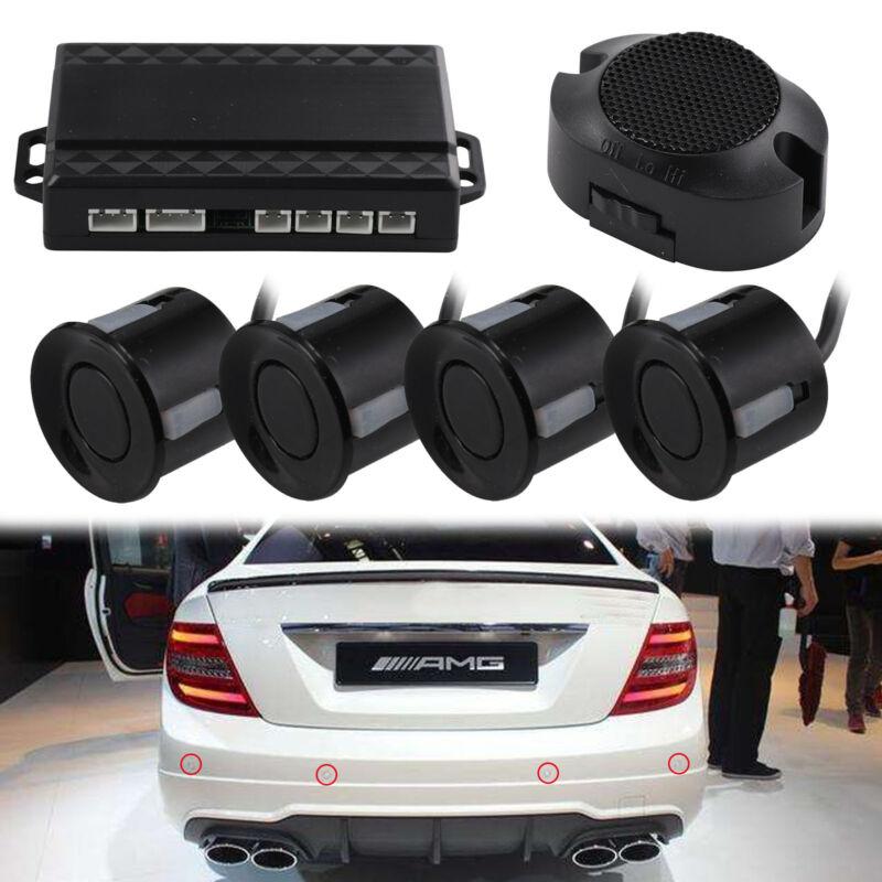 Car Parts - 4x Parking Sensors Car Auto Reverse Backup Rear Radar LED Alert System KIT