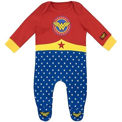 Wonder Woman Sleepsuit | Baby Wonder Woman Pyjamas | Wonder Woman Footie PJs ()