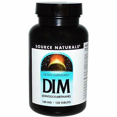 Source Naturals DIM, (Diindolylmethane), 100mg x 120 Tablets - Source (Source Naturals Dim Diindolylmethane 100mg 120 Tablets)