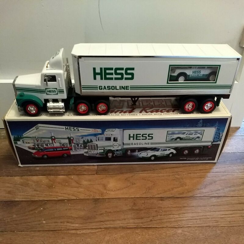 1992 Hess Truck 18 Wheeler and Racer Porsche Type in Original Box