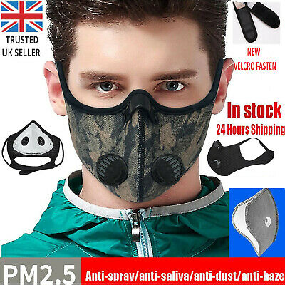 UK FILTER Vent Face Mask Reusable NEW Anti Nose Valve Mens Womens Gym Workout