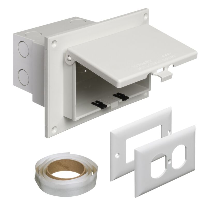 Arlington DBHR1W-1 Low Profile IN BOX Electrical Box with Weatherproof Cover