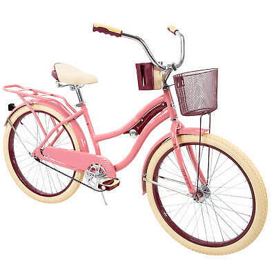 "24"" Womens Beach Cruiser Bicycle Huffy Single-speed Vintage Beach Cruiser Bike"