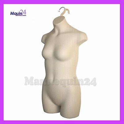 Mannequin Teen Girl - Kids Sizes 10-12 - Flesh Plastic Hanging Dress Form